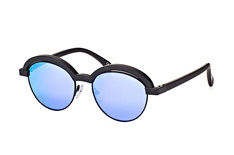 Le Specs LSP Slid Lids 2167, Browline Sonnenbrillen, Schwarz