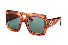 Gucci GG 0053S 002, Square Sonnenbrillen, Havana