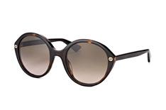 Gucci GG 0023S 002, Round Sonnenbrillen, Dunkelbraun