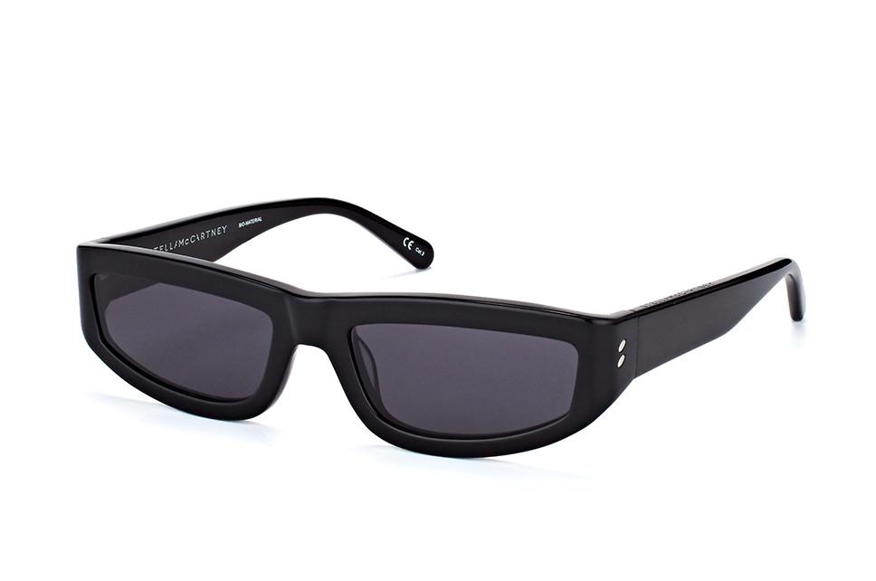 SC 0068S 002, Rectangle Sonnenbrillen, Schwarz