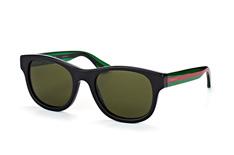 Gucci GG 0003S 002, Square Sonnenbrillen, Schwarz
