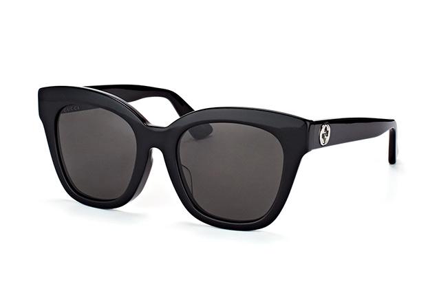 Gucci Damen Sonnenbrille GG0029S 001, Schwarz (Black/Grey), 50
