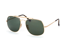 Ray-Ban General RB 3561 001, Aviator Sonnenbrillen, Goldfarben