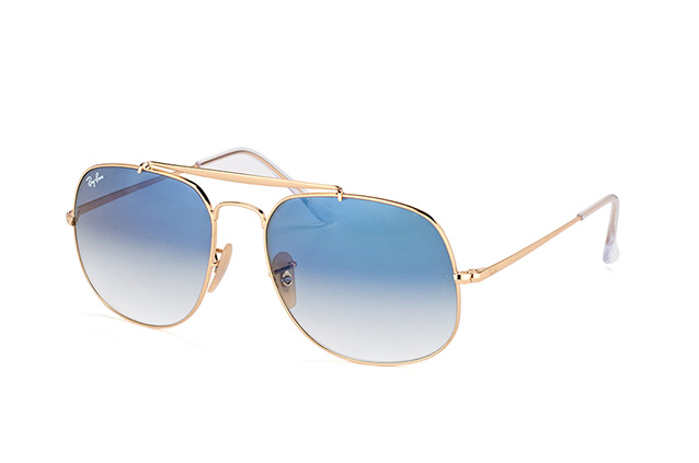 Ray-Ban General RB 3561 001 3F vue en perpective ... a681fb113318