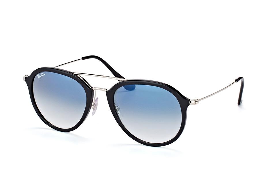 Ray-Ban RB4253 62923F - zonnebril - Zwart Zilver / Lichtblauw Gradint - 53mm