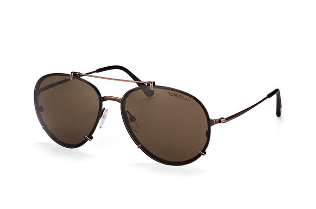 87a32a172677 Back to overview · Home · Sunglasses · Tom Ford Sunglasses  Tom Ford Dickon  FT 527 S 49J. null perspective view ...
