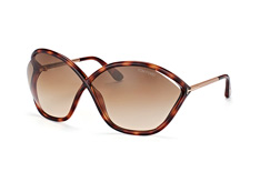 Tom Ford Bella FT 529/s 53F, Butterfly Sonnenbrillen, Havana