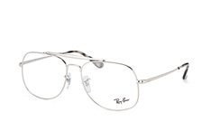 Ray-Ban RX 6389 2501, Aviator Brillen, Silber