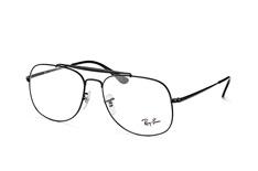 Ray-Ban RX 6389 2509, Aviator Brillen, Schwarz