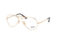 Ray-Ban RX 6489 2500, Aviator Brillen, Goldfarben