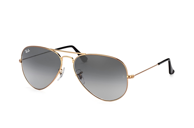 Ray-Ban Aviator large RB 3025 197/71 vue en perpective