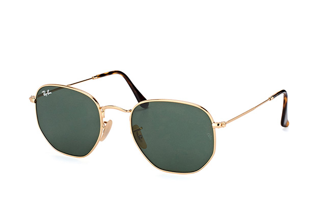7bed636ac48121 Ray-Ban Hexagonal RB 3548N 001 L vue en perpective ...
