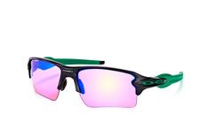 Oakley Flak OO 9188 70, Rectangle Sonnenbrillen, Schwarz
