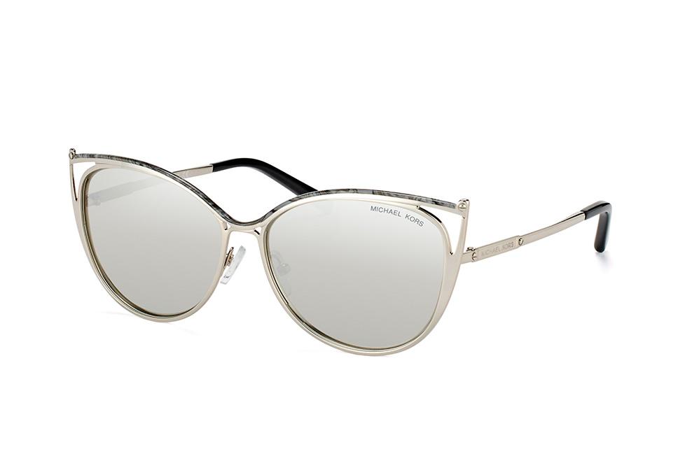 Michael Kors Damen Sonnenbrille Ina 11666G, Gray Marble/Silver-Tone/Silvermirror, 56