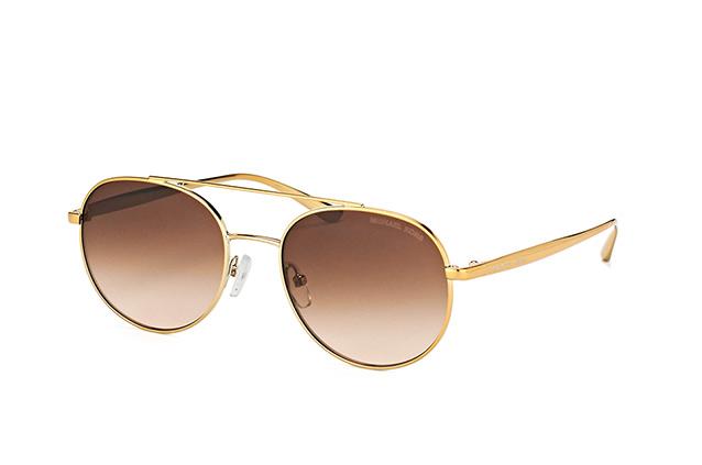 MICHAEL KORS Michael Kors Damen Sonnenbrille »LON MK1021«, goldfarben, 116813 - gold/braun