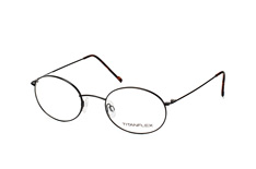 Titanflex 820721 10, Round Brillen, Schwarz
