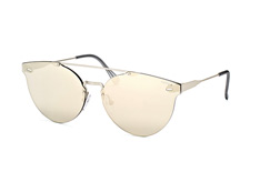 Super by Retrosuperfuture Tuttolente Giaguaro IvoryHOO/L, Aviator Sonnenbrillen, Silber