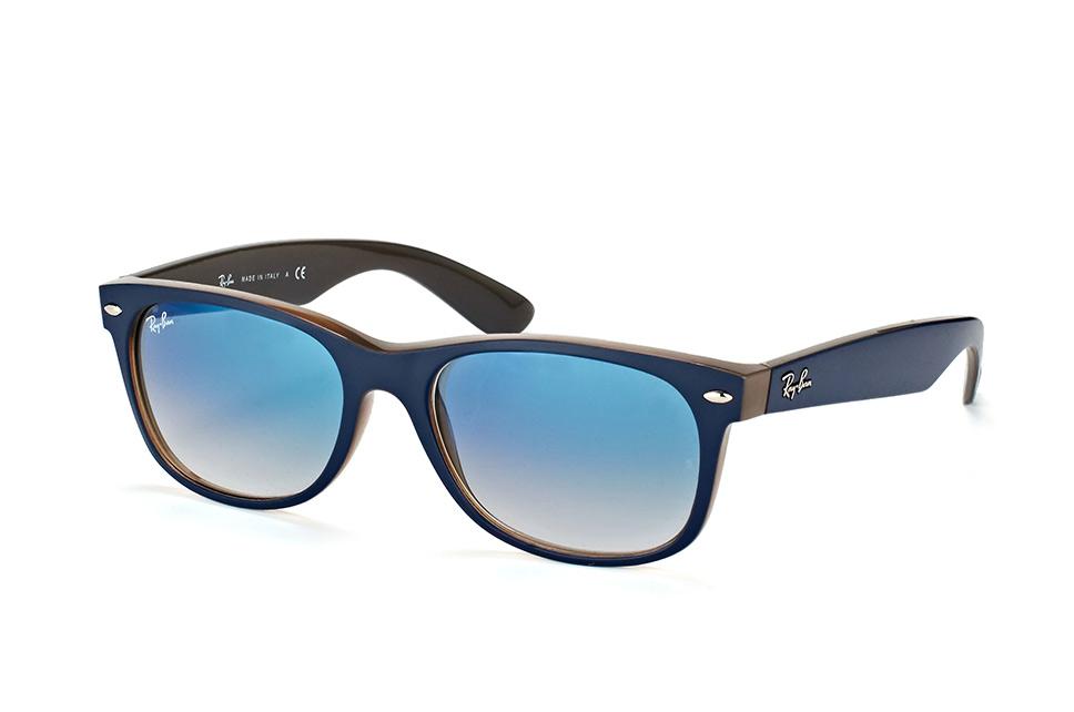 New Wayfarer RB 2132 6308/3F L, Square Sonnenbrillen, Blau