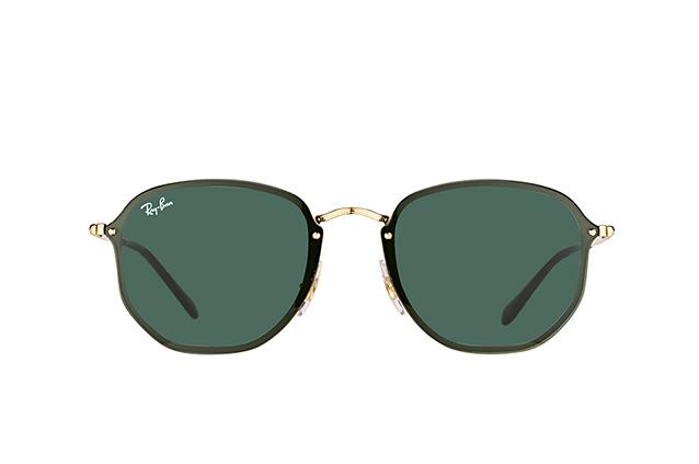 RAY BAN RAY-BAN Damen Sonnenbrille »Blaze Round RB3574N«, goldfarben, 001/9A - gold/grün