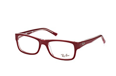ray-ban-rx-5268-5738-rectangle-brillen-rot