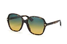 Gucci GG 0092S 003, Butterfly Sonnenbrillen, Braun