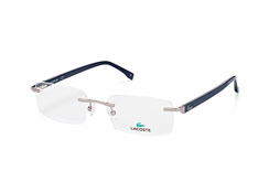 Lacoste L 2236 047, Rectangle Brillen, Silber