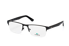 Lacoste L 2237 002, Rectangle Brillen, Schwarz