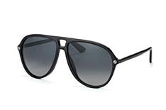Gucci GG 0119S 006, Aviator Sonnenbrillen, Schwarz