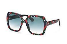 Gucci GG 0096S 005, Butterfly Sonnenbrillen, Blau