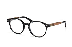 Wood Fellas Solln 10929 walnut/black, Round Brillen, Schwarz