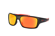 Oakley Turbine OO 9263 37, Rectangle Sonnenbrillen, Schwarz
