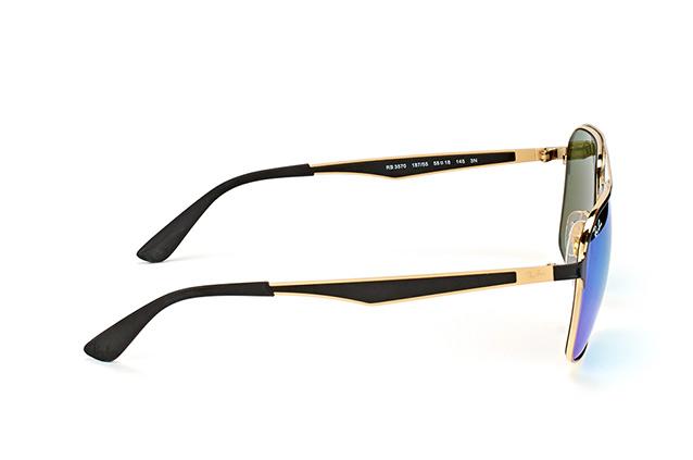 RAY BAN RAY-BAN Sonnenbrille » RB3570«, goldfarben, 187/55 - gold/blau