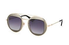 Gucci GG 0105S 001, Round Sonnenbrillen, Dunkelgrau