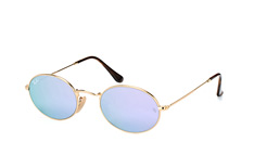 Ray-Ban Oval RB 3547N 001/8O large, Round Sonnenbrillen, Goldfarben
