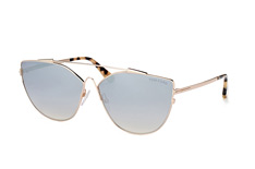 Tom Ford Jacquelyn 02 FT 0563/s 28C, Butterfly Sonnenbrillen, Goldfarben