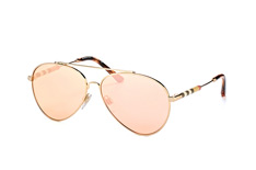 Burberry BE 3092Q 1243/7J, Aviator Sonnenbrillen, Goldfarben