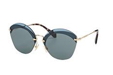 Miu Miu MU 53Ss Vx0-9K1, Butterfly Sonnenbrillen, Blau