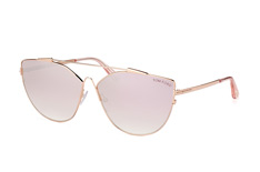 Tom Ford Jacquelyn02 FT 0563/s 33Z, Butterfly Sonnenbrillen, Goldfarben