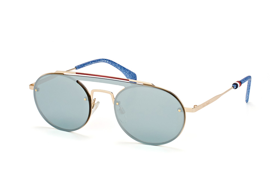 TH Gigi Hadid3 83I.t4, Singlelens Sonnenbrillen, Goldfarben