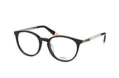 Furla VFU 088 0700, Round Brillen, Schwarz