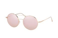 Calvin Klein CK 2156S 717, Round Sonnenbrillen, Goldfarben