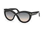 Tom Ford Diane-02 FT 0577/S 72Z Black / Gradient grey perspective view thumbnail