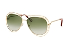 Chloé Carlina CE 134S 792 Gold / Gradient green perspective view thumbnail
