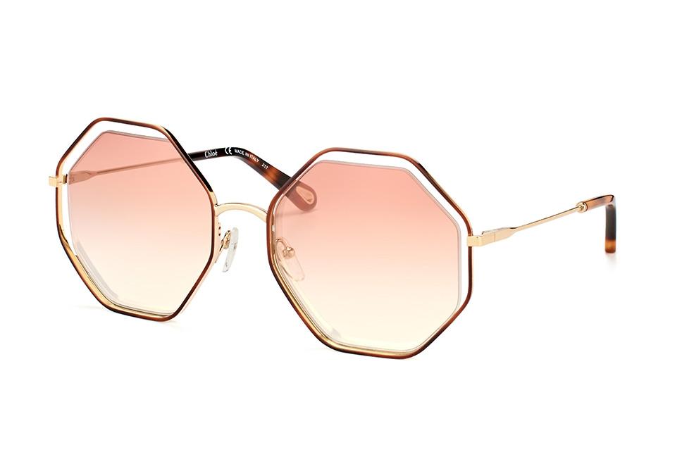 Poppy CE 132S 205, Round Sonnenbrillen, Goldfarben