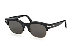 Tom Ford Harry-02 FT 0597/s 01D, Browline Sonnenbrillen, Schwarz