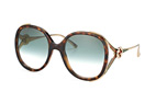 Gucci GG 0226S 003 Havana / Gold / Gradient green perspective view thumbnail