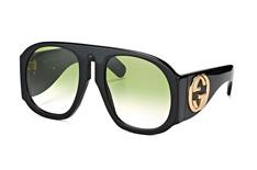 Gucci GG 0152S 002, Aviator Sonnenbrillen, Schwarz
