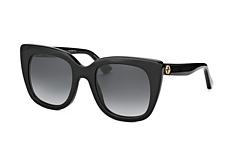 Gucci GG 0163S 001, Square Sonnenbrillen, Schwarz