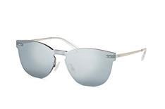 Puma Hoxton PU 0137S 002, Singlelens Sonnenbrillen, Silber
