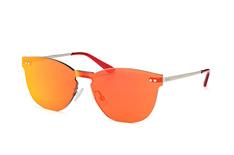 Puma Hoxton PU 0137S 004, Singlelens Sonnenbrillen, Silber